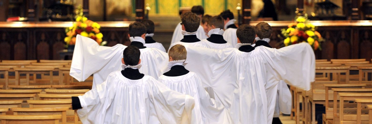 Choristers in the Abbey